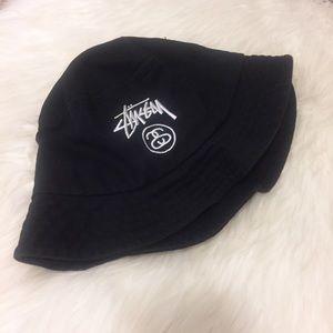 5026e67a27c Stussy Accessories -  Stussy  Logo Black Bucket Hat - Size L XL